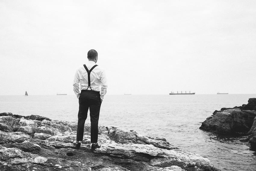 Casamento frente ao oceano