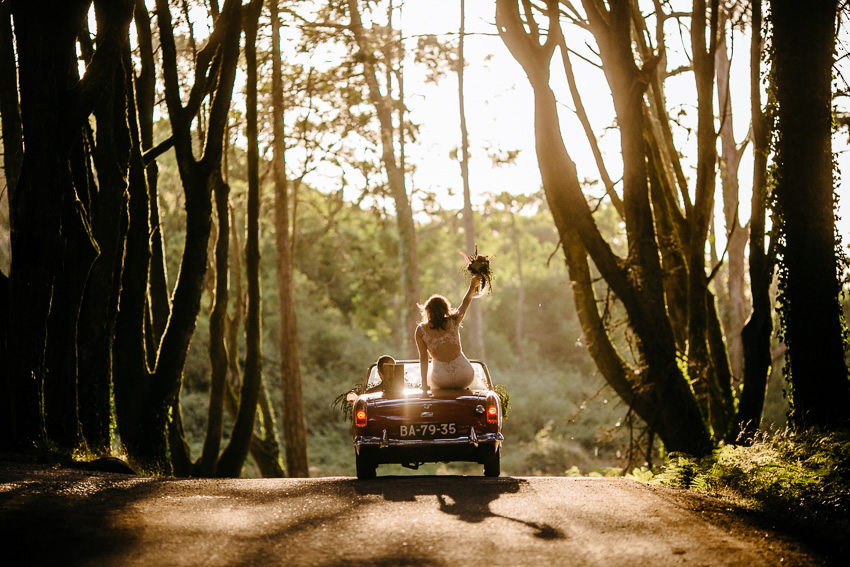 Sylvia & Michel Elopement Wedding Photography in the woods, Sintra