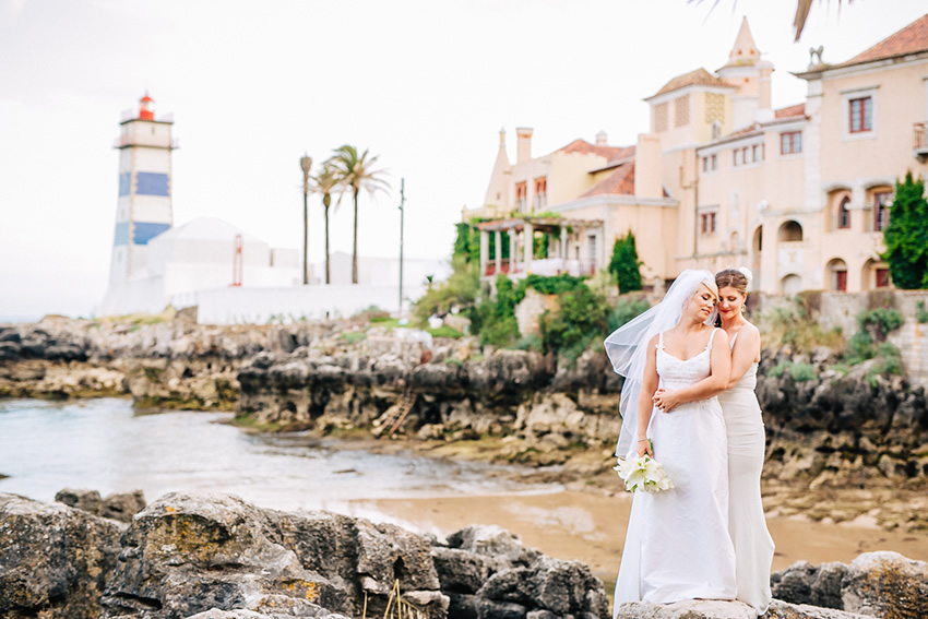 Sara & Marisa Destination Wedding in Cascais