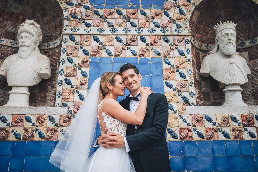 Lindy & Aaron Wedding in Marquês da Fronteira Palace, Lisbon