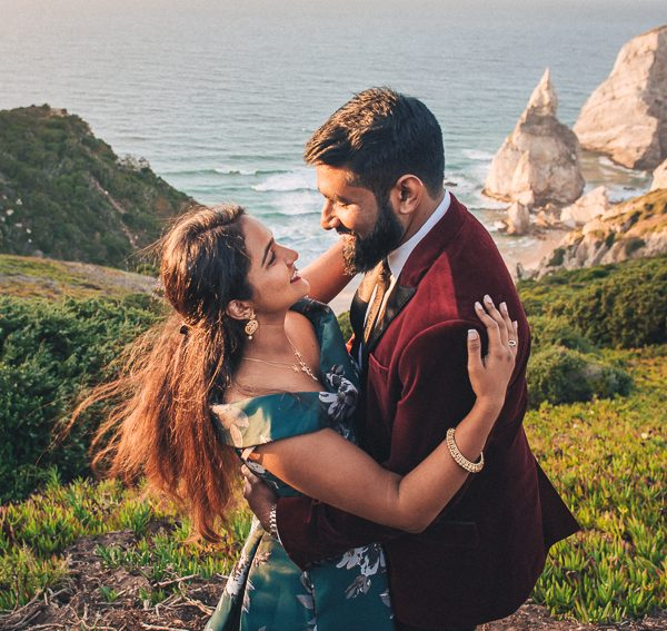 Vileene & Noah Colorful Engagement Session in Sintra